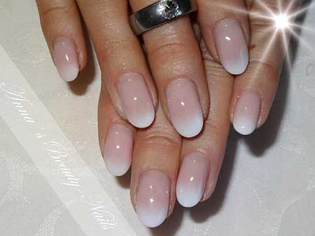 Nail, Nudenatural Acrylic Beautiful, Manicures, Natural, Nude, Oval