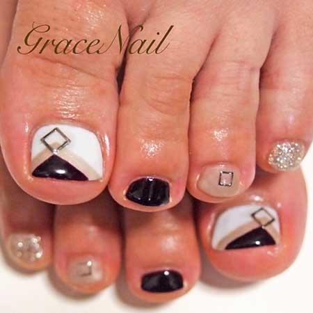 French Manicure, Bow Ties, Black Bow, Pretty Nail, Toe Nail, Black, Bow, Toe