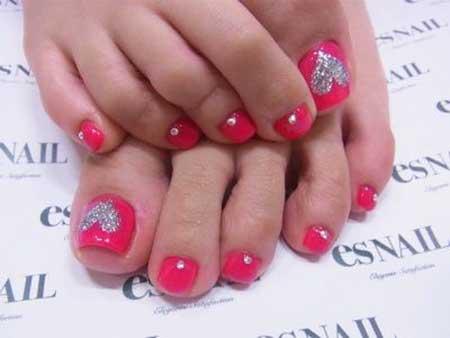Toe Nail Toe, Pedicures, Toe, Art Silver, Toes