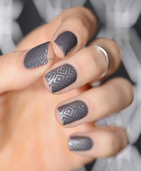 Polish, Art, Nail Polish, Black Nail, Glitter, Stamps, Black 5