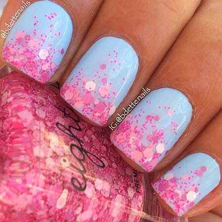 Polish, Glitter, Nail Polish, Glitter Nail, Pink, Kbshimmer