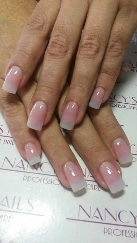 Short Natural Acrylic Nails