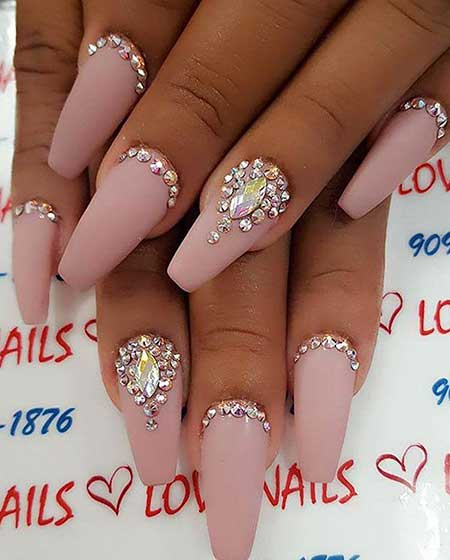 Nail, Wedding Ps, Stilettoart, Bling, Very, Coffin, Stiletto, Rhinestone [,