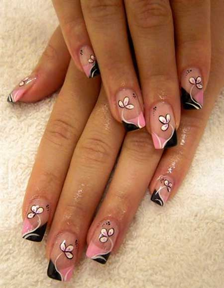 Art, Gel Nail, Flower Nail, Manicures, Floral