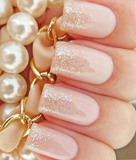 French Manicure, Wedding Glitter, Pink Glitter Nail, Pretty Nail, Polish, Pink