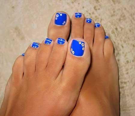 Toe Nail Pedicures, Toe, Blue, Pedicure Ideas, Pretty Toes, Toes