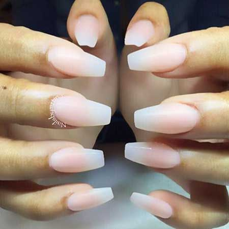 Stiletto Coffin Nail, White Nail, Pink, Manicures, Almond Natural, White, Color