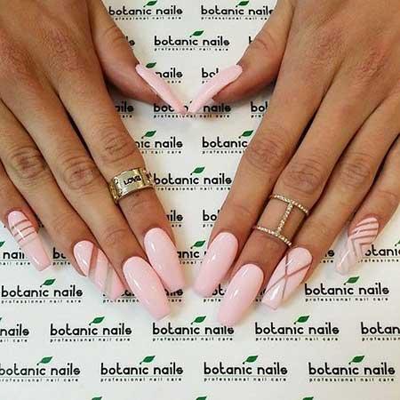 Botanic Pinkbotanical, White Nail, Botanicrylic Long, White, Pink, Botanic, Idea
