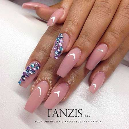 Stiletto Nail, Beauty Pink Pink, Coffin Long, Square, Coffin, Stiletto, Beauty,
