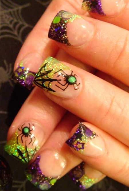 Art, Acrylic Nail, Flower Nail, Yellow Flowers, Yellow, Floral