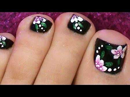 Art, Toe Nail Flower Nail, S, Floral
