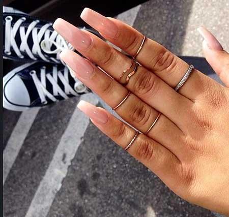 Rings, Nail Polish, Manicures, S, Nail Ring, Long, Square, Ring, Idea
