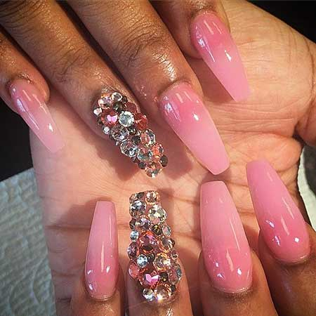 Nail, Beauty Pink, Stiletto Pink Pretty Nail, Stiletto, Pretty