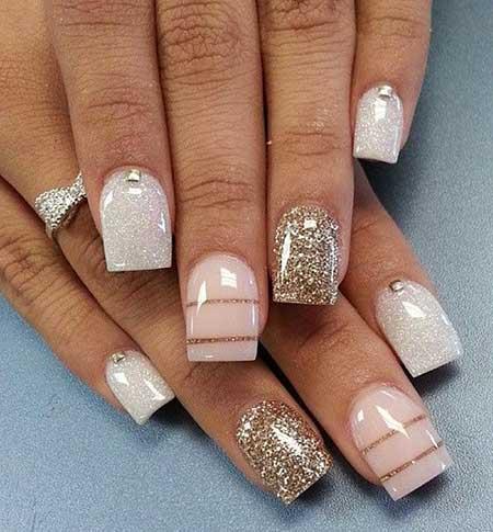 Nail Nail, Pretty Nail, Gold Nail, S, Pink Neutral