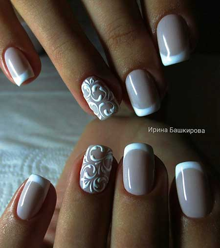 Wedding Simple Art, Manicures, Beauty Simple, Wedding, French