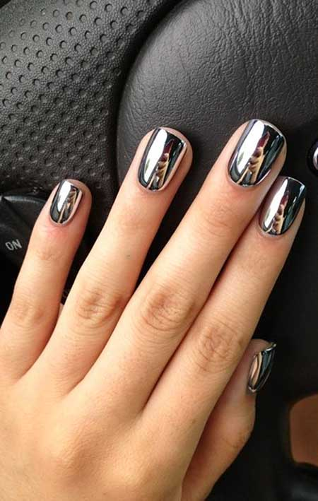Mirror Nail, Chrome Nail, Metallic Nail, Metals, Mirror, Nail Polish,