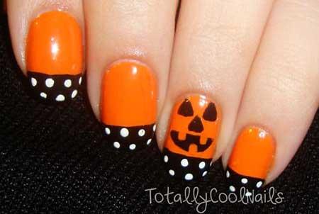 İls, Halloweenhalloween, Art, Halloween Orange, Nailday Simple