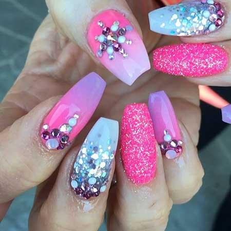 Art, Stiletto Nail, Pinkpink, Stiletto, S