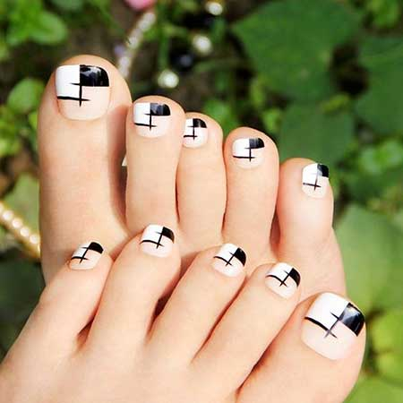 French Manicure, Bow Ties, Black Bow, Art, Toe Nail, Bows, White, Black, Bow,