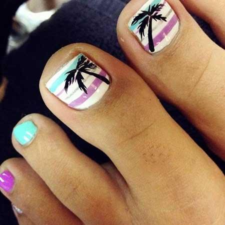 Summer Nail, Palm Trees, Art, Toe Nail, S, Palm