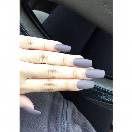 Acrylic Beautiful, Claw, Coffin White Nail, Long, White, Square, Coffin