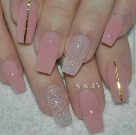 French Manicure, Weddingfrench Pretty Nail, Acrylicpink, Coffin, Wedding, French