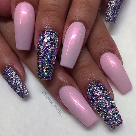 Glitter Nail, Glitter, Polish, Purple, Pretty Nail, Nail Polish, Pink, Color,