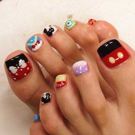 Toe Nail, Art, S, Disney