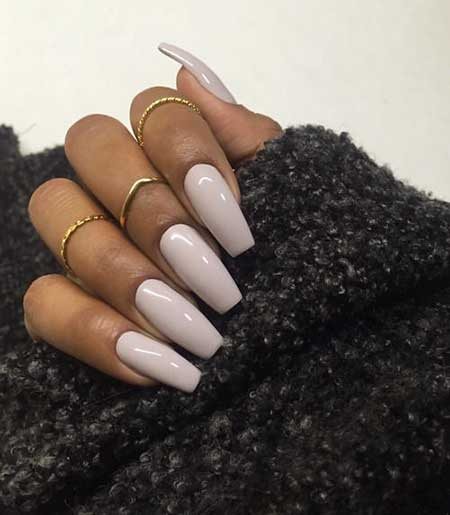 Nude Nail, Nudes, Pink Coffin Xana, Long, Nude, Pink, Square, Coffin, Idea