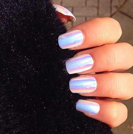 Blue, Nail Polish, Beautiful, Polish, Art, Blue White, Holographic, Mani