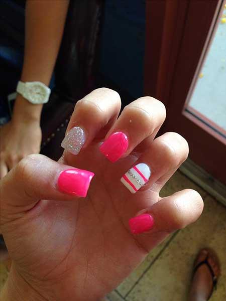 Pink, Pinkhot Pink, Pink Acrylic Hot, Striped, Idea, Acrylic, S