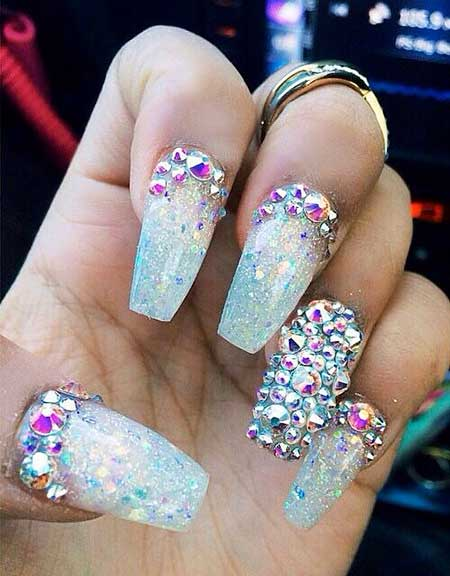 Glitter, Polish, Beach Art, Acrylic , Beach, Rhinestones [