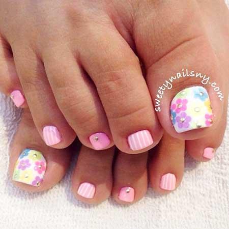 Toe Nail Toe, Pedicures, Summer Toes, Toe, Candy
