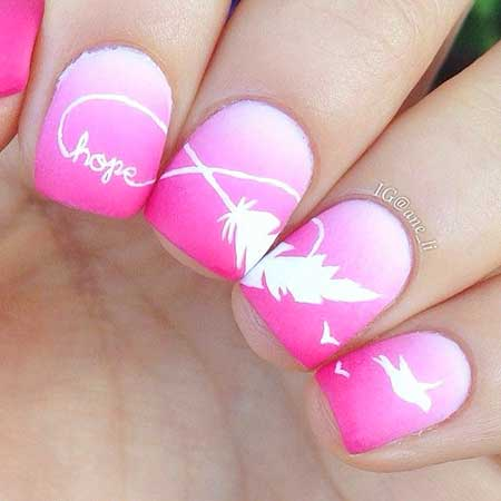 Ombre Nail, Summer Nail, Pretty Nail, Art, S, Feather, Ombre