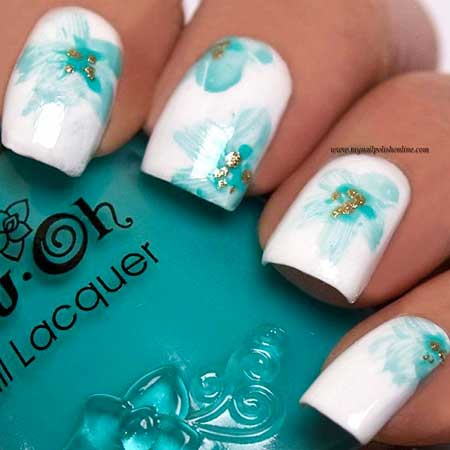 Nail, Art, Flower Nail, Summer Pretty Nail, Beach Beach, Floral