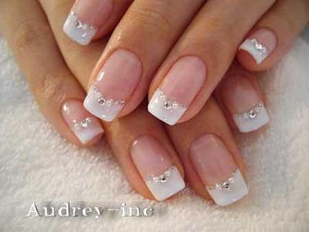 Weddingbridal French Manicure, Manicures, French, Art, Bridal, Wedding [,