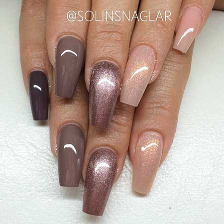 Nail, Pink Coffin Nail, Nudenudes, Neutral