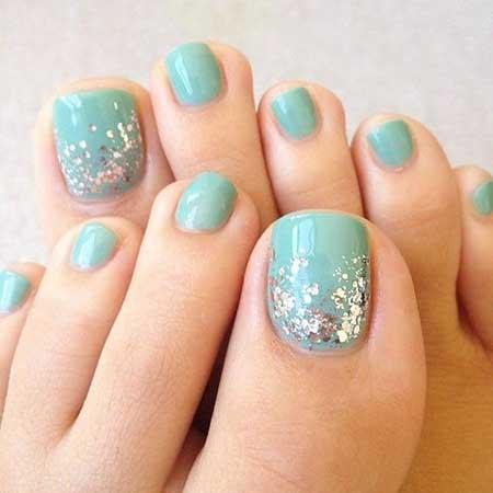 Toe Nail, Toe, Easy Nail, Glitter, Accent Nail, Summer Accent, Easy, Toe