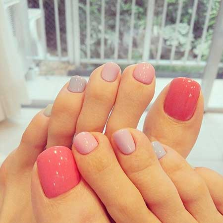 Pink Pink Nail, Manicures, Round Gold Studs, Art, Gold, Round, Studs, Foot