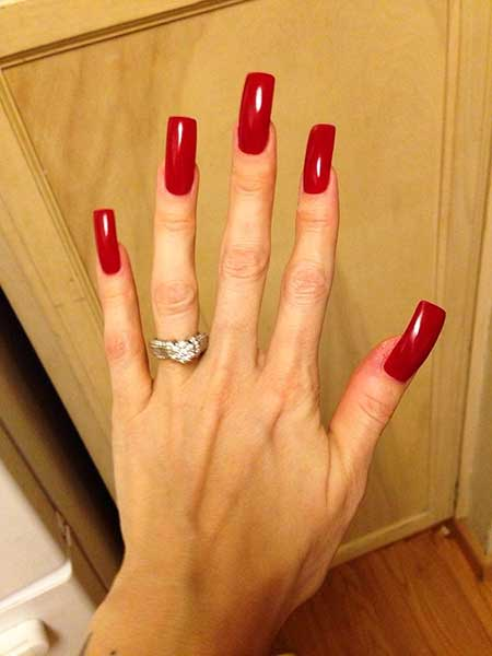 Rings, Manicures, Red, Beautiful, Pink Square