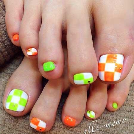 Toe Nail Toe, Summer Pedicures, Rainbow Nail, Rainbow, Toe