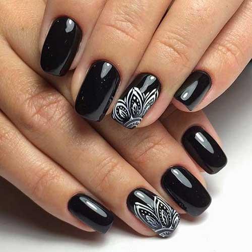 Black Nail Designs-11