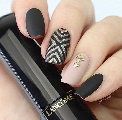 Black Nail Designs-15