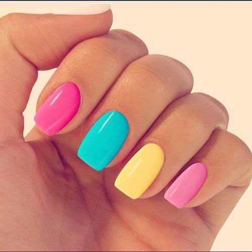 Multi Color Nail Designs-7