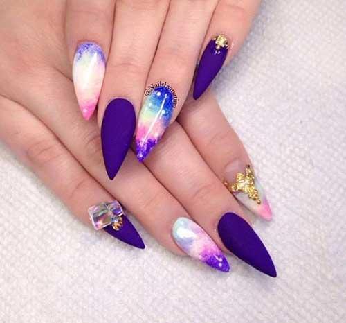 Multi Color Nail Designs
