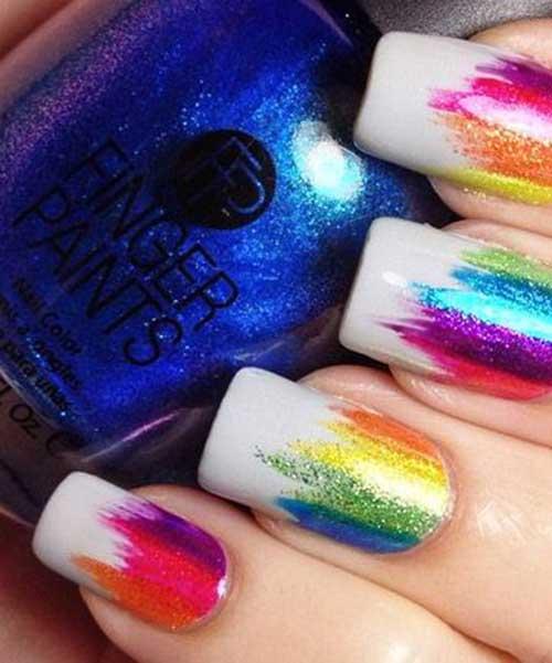 Nail Designs Multi Colored