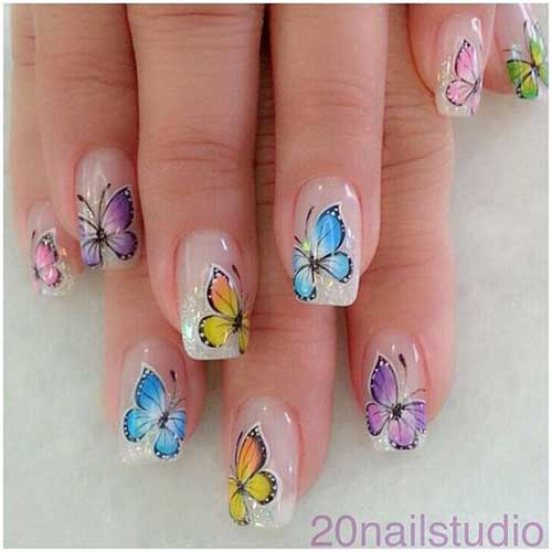 Nail Designs with Stickers-10