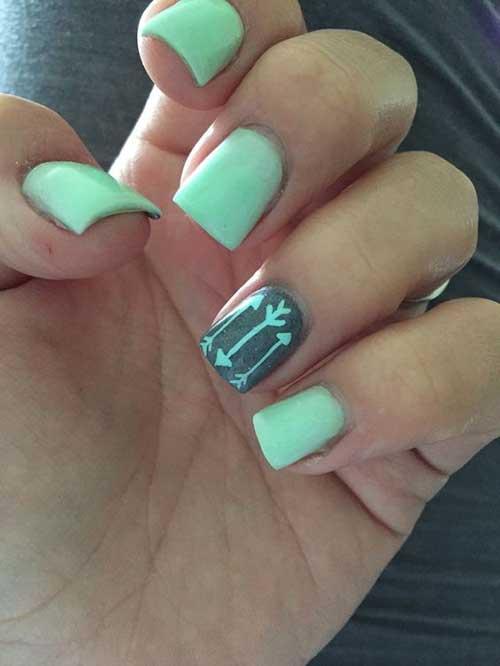 Green Nail Arts Designs-11