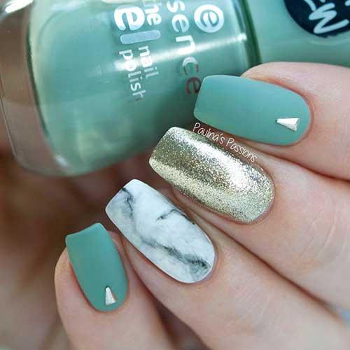 Green Nail Arts Designs-13