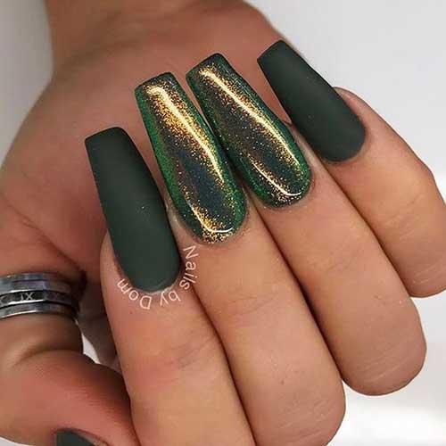 Green Nail Arts Designs-7